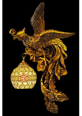 Đèn Tường Phụng Hoàng Vàng